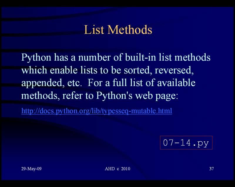 Python 3 list variable diagram