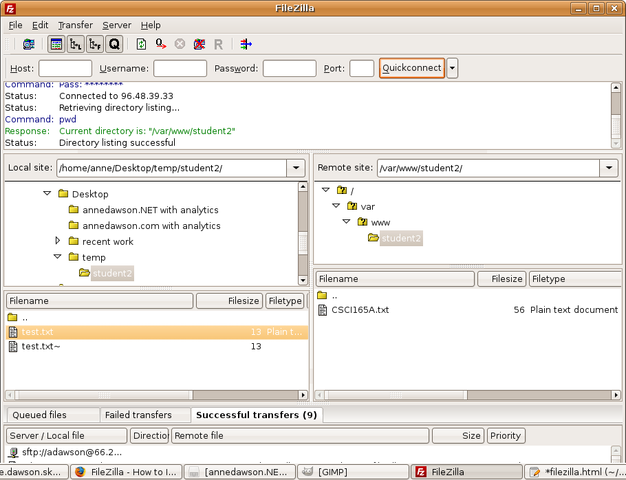 How to install and run FileZilla on Linux or Windows by Anne